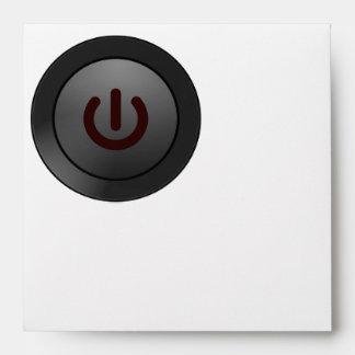 Black Button - On Symbol Envelopes