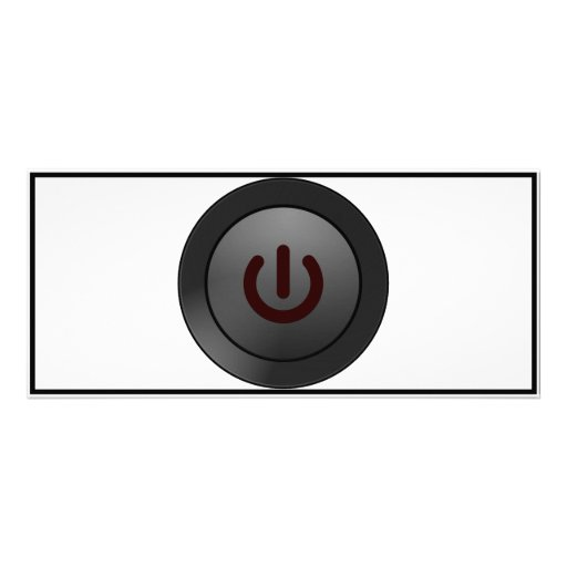 Black Button - On Symbol Personalized Rack Card