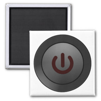 Black Button - On Symbol Refrigerator Magnet