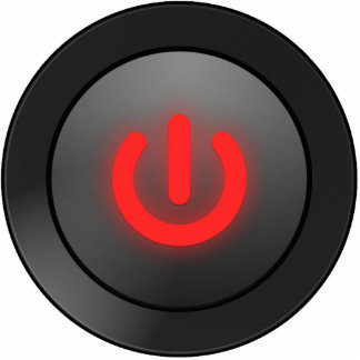 Black Button - Red - Off Symbol
