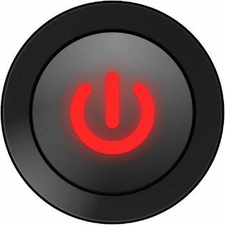 Black Button - Red - Off Symbol Photo Cutout