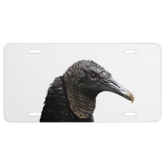 Black Buzzard License Plate