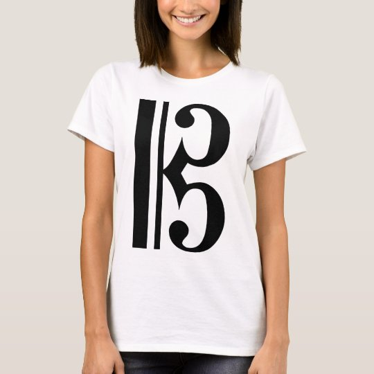 Black C Clef T-Shirt