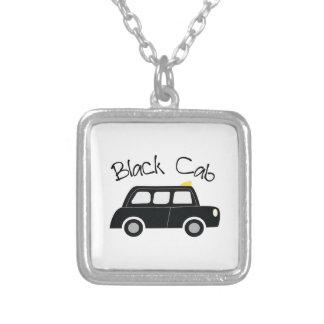 Black Cab Square Pendant Necklace