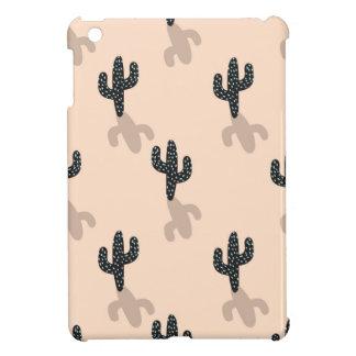 Black cacti in pink desert case for the iPad mini