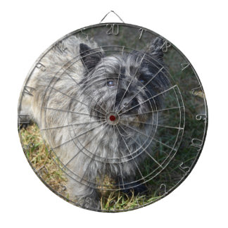 Black Cairn Terrier Dart Board
