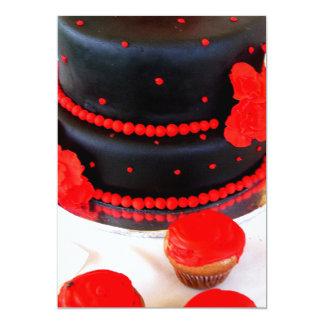 Black cake invitations