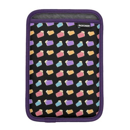 Black cake pattern iPad mini sleeves