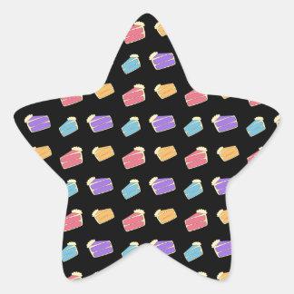 Black cake pattern sticker