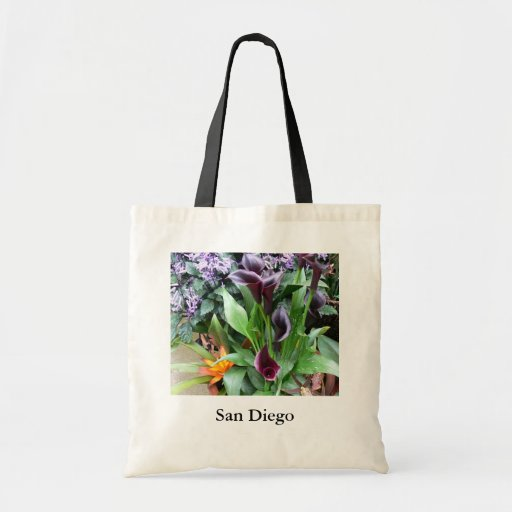 Black Calla Lilies Canvas Bag