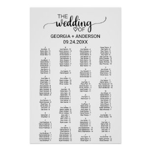 wedding seating charts zazzle