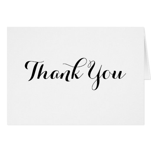 Black Calligraphy Thank You Note Card Template – Note Card Template