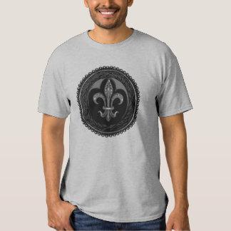 Black Cameo Fleur de lis Shirt