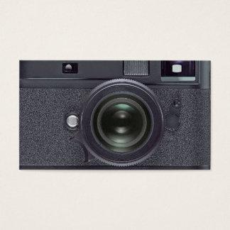 Black camera business card