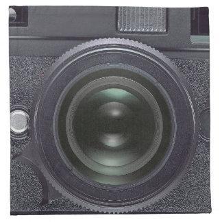 Black camera cloth napkin
