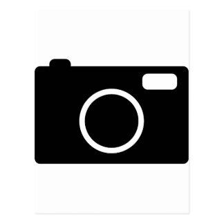 black camera icon postcard