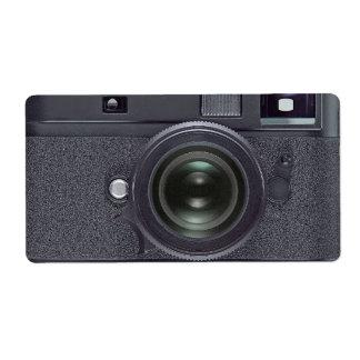 Black camera shipping labels