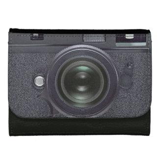 Black camera women's wallet