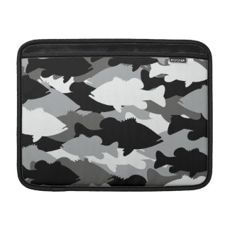 Black Camo Bass Fishing MacBook Air Sleeve