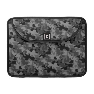 Black Camo Camouflage Pattern MacBook Pro Sleeve