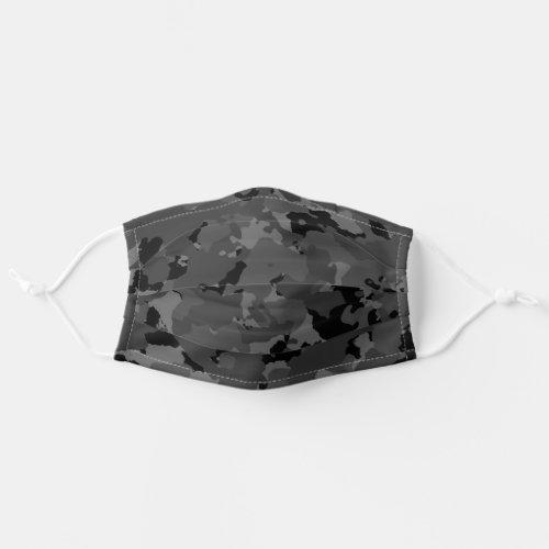 Black Camo Cloth Face Mask
