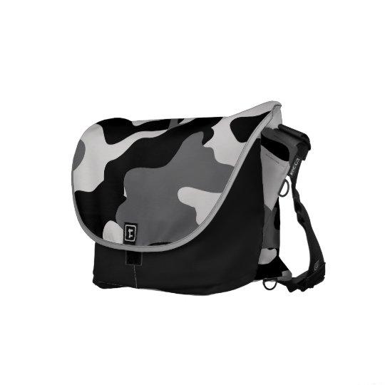 BLACK CAMO COURIER BAG