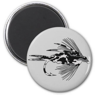 Black Camo Fly Fishing lure 2 Inch Round Magnet