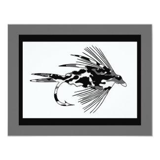 Black Camo fly fishing lure Card