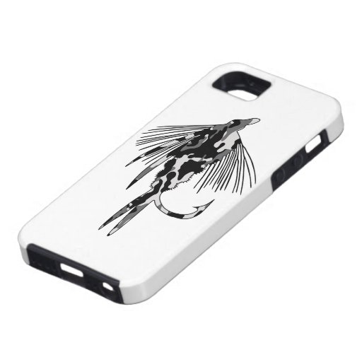 Black Camo Fly Fishing lure iPhone 5 Cover