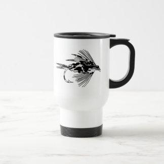 Black Camo Fly Fishing lure Mugs