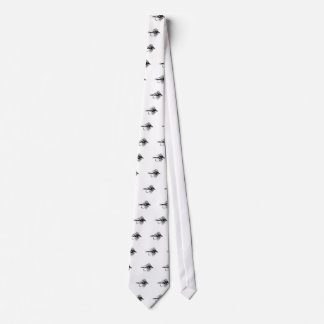 Black Camo Fly Fishing lure Neck Tie