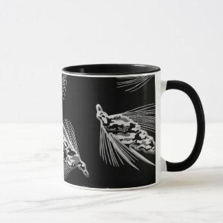 Black Camo Fly Fishing lure pattern Mug