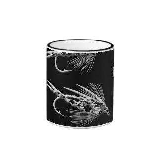 Black Camo Fly Fishing lure pattern Coffee Mugs