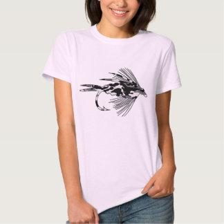 Black Camo Fly Fishing lure T Shirt