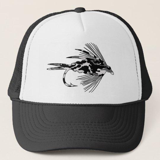Black Camo Fly Fishing lure Trucker Hat