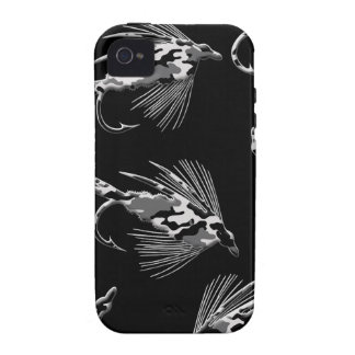 Black Camo Fly Fishing Lures Vibe iPhone 4 Cover