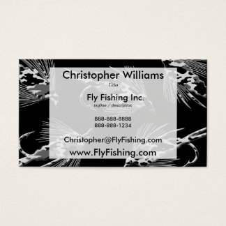 Black Camo Fly Fishing pattern Business Card