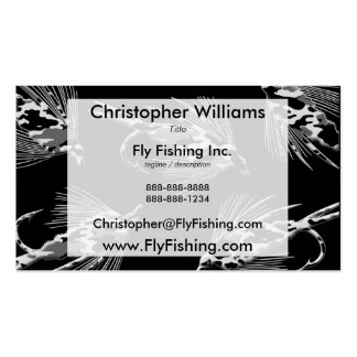 Black Camo Fly Fishing pattern Business Cards