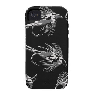 Black Camo Fly Fishing pattern iPhone 4 Cover