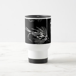 Black Camo Fly Fishing pattern Coffee Mug