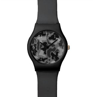 Black Camo Numbered Boys Watch