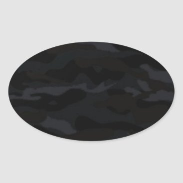 Black Camo Oval Sticker