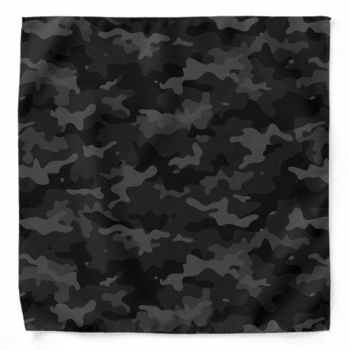 Black Camo Pattern Bandana
