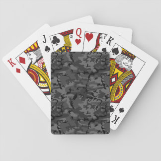 Black Camo Pattern Deck Of Cards