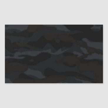 Black Camo Rectangular Sticker