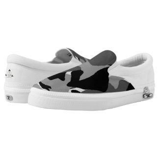 Black Camo Slip-on Tennis Shoe Printed Shoes