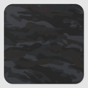 Black Camo Square Sticker