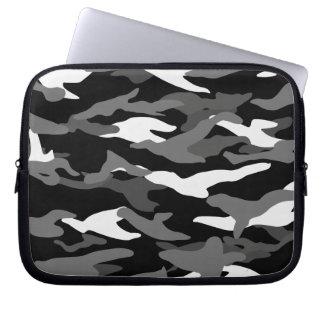 Black camouflage computer sleeve