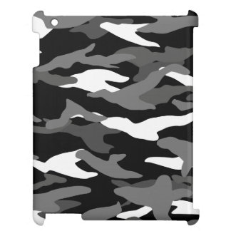 Black camouflage iPad case