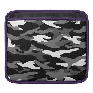 Black camouflage iPad sleeve